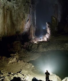 """Son Doong Cave, Vietnam Son Doong Cave is world's largest cave, located in Quang Binh province in Vietnam. The name """"Son Doong"""" cave means """"mountain river cave"""". It was found by a local man named Ho Khanh in 1991 and was recently discovered in 2009 by British cavers. Son Doong Cave was created 2-5 million years ago. The biggest chamber of Son Doong Cave is more than five kilometers long, 200 meters high, and 150 meters wide"""