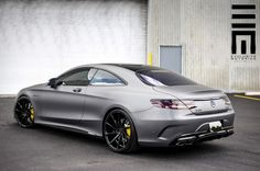 Mercedes S63 AMG Coupe with a matte gray paint job