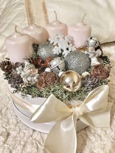 Christmas Advent Wreath, Christmas Home, Christmas Crafts, Advent Candles, Christmas Arrangements, Little Boxes, Xmas Decorations, Happy Holidays, Diy Crafts