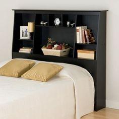 Prepac Full/queen Tall Bookcase Headboard (black)