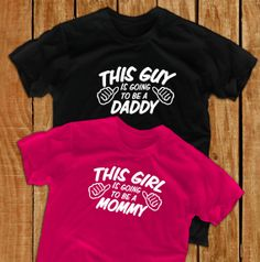 This guy is going to be a daddy this girl is going to be a mommy pregnant new dad gift papa shirt maternity shirts pregnancy shirt papa gift on Etsy, $29.90