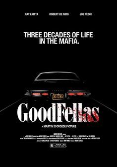 GOODFELLAS Classic Movie Posters, Minimal Movie Posters, Cinema Posters, Movie Poster Art, Minimal Poster, Badass Movie, Love Movie, Martin Scorsese, Iconic Movies