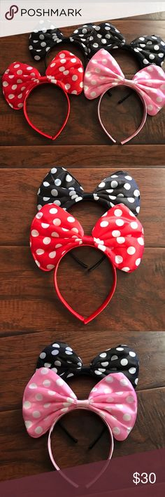 Minnie Earband Bundle of 4 Selling 4 Minnie style headbands. NEW. Accessories Hair Accessories