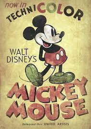 Ancienne affiche , Mickey .