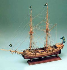 The Corel Amphion wooden ship model is an accurate reproduction of the real Swedish Yacht.