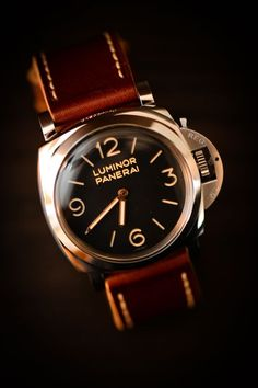 Apart from telling him what time it is, a watch also indicates the personality as well as the stature of a man.Men's watches have also become fashion items Panerai Watches, Panerai Luminor, Men's Watches, Swiss Luxury Watches, Luxury Watches For Men, Stylish Watches, Cool Watches, Modern Watches, Wrist Watches