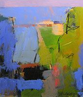 Blue Field V / acrylic / 28 x 24 in. / $3,000