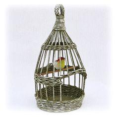 Wicker birdcage by WeavingAndVintage on Etsy
