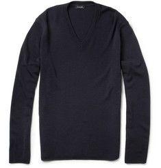 Jil Sander V-Neck Merino Wool Sweater | MR PORTER