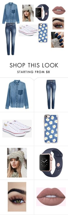 """jeans outfit"" by queen7901 ❤ liked on Polyvore featuring Converse, Casetify, CC and OPI"