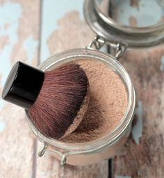 Homemade Foundation Powder! Ditch the store-bought powder for this simple homemade version!
