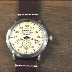 The Shinola watch, using its Argonite 1069 movement, entirely assembled in Detroit of Swiss-made parts
