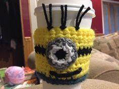 Everything Amber Skye: Minion Coffe Cup Sleeve Crochet Pattern