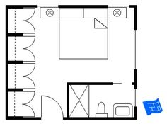 master bedroom floor plan - souped up hotel room layout. | master