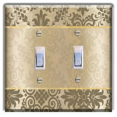 Floral-Vintage-Brown-LIGHT-SWITCH-PLATE-Cover-Wall-Decor