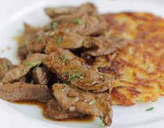 Veal liver with rösti