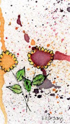 """Color Explosion"" - Original Fine Art for Sale - Watercolor and Ink - © Kali Parsons - http://kaliparsons.blogspot.com"