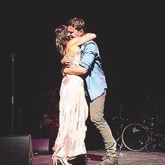 Jonathan Groff made a guest appearance at Lea Michele's Philly concert #places, they sang 'Rolling in the Deep' together.1 May 2017.