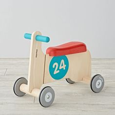 Shop Kids Bike Ride On.  Start the bike-riding experience with this bike ride-on! For super beginner bike riders, this helps children to first ride without pedals making it an easy transition to when they do have bikes with pedals.