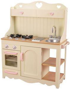 <b>KidKraft Køkken Prairie</b> er et skønt og fint præriekøkken, med alle fine detaljer såsom komfur, stegeplader, ovn, vask med vandhane, hylder og afsætningsplads til varme gryder.<br><br>Materiale: MDF. <br><br>Mål: 77 x 34 x 95 cm.<br><br>Farve: Creme/ Lyserød.<br><br>Anbefalet alder: Fra 3 år (pga. små dele).