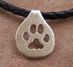 Wolf Paw Print Necklace/Choker by Silverpaws on Etsy, $75.00
