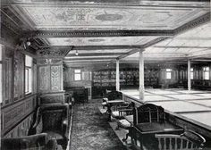 In the Library of the White Star Line Teutonic.(c.1889) Perhaps the ships Nellie Bly and Elizabeth Bisland traveled on looked somewhat similar.