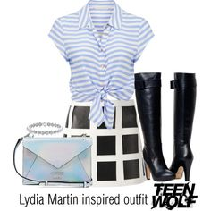Lydia Martin inspired outfit/TW by tvdsarahmichele on Polyvore featuring moda, Forever New, Dsquared2 and GUESS