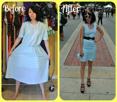 Sometimes it's fun to make a vintage dress from one era look like a vintage dress from a completely different era! Take this dress from the 1980s: It's not very exciting, is it? I saw …