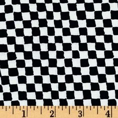 Michael Miller Clown Check Black/White from @fabricdotcom  Designed for Michael Miller Fabrics, this cotton print features a black and white check motif.  Perfect for quilting, apparel and home décor accents.  Colors include black and white.