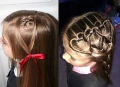 valentines day hairstyles for kids - Bing Images - Hair - Hair Valentine's Day Hairstyles, Kids Braided Hairstyles, Holiday Hairstyles, Little Girl Hairstyles, Toddler Hairstyles, Hairstyle Ideas, Amazing Hairstyles, Trendy Hairstyles, Up Dos