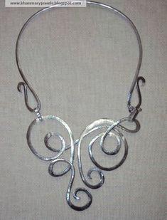 Aluminum jewelry Aluminium bangle Geometric aluminum wire bracelet silver color Gift for her