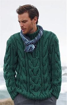 Ravelry: 579 - High Neck Sweater pattern by Bergère de France That cable looks mighty impressiveHigh Neck Sweater - Bergere de France Creations See our great prices and fast service.Chunky cables in warm Alaska yarn for this high neck sweater. Cable Sweater, Sweater Coats, Pullover Sweaters, Men Sweater, Mens Pullover, Cable Knit, Cable Needle, Knit Sweaters, Comfy Sweater