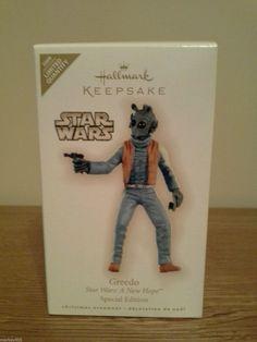Star Wars Greedo Limited Quantity 2009 Hallmark Keepsake Christmas Ornament New