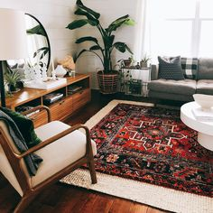 14 ways to refresh a tired-looking living room rug size guide. Whether you're looking for your living room, dining, or bedroom Ways to Make Your Small Living Room Feel Bigger Eclectic Living Room, Boho Living Room, Interior Design Living Room, Living Room Designs, Living Room Decor, Vintage Modern Living Room, Bohemian Living, Carpet In Living Room, Swedish Interior Design