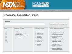 Confused about Performance Expectations in the Next Generation Science Standards? Try the Performance Expectation Finder on the NGSS@NSTA Hub! http://ngss.nsta.org/performanceSearchResults.aspx