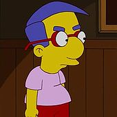 @AguyinAY I got Milhouse :( Which Simpsons Character Are You.