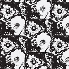 Rio Grande in Black and White fabric by serendipity_textiles on Spoonflower - custom fabric