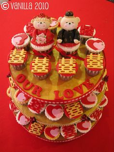 {chinese wedding cupcake}  #cupcakes that's a great snack idea for the reception