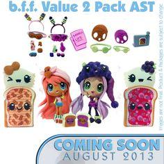 Bff 2 pak pp and j kawaii crush kawaii crush Kawaii Crush, 10 Year Old Gifts, Party Pops, Polly Pocket, Cute Toys, Shopkins, Cute Characters, Girl Crushes, Plushies
