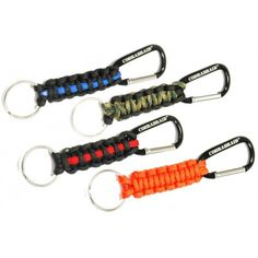 Paracord Key Chains.  Need key ring & carabeaner.