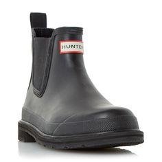 Hunter Original Pulta Chelsea Wellington Boots, Jet Black