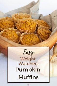 Weight Watchers Cake, Weight Watchers Muffins, Weight Watchers Pumpkin, Weight Watchers Recipes, Pumpkin Muffin Recipes, Pumpkin Spice Muffins, Pumpkin Recipes Low Calorie, Healthy Pumpkin Muffins, Healthy Baked Snacks