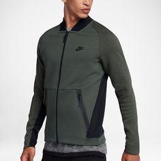 Nike Sportswear Tech Fleece – collegejakke til mænd Mens Fleece Jacket, Hoodie Jacket, Zip Hoodie, Men's Activewear, Nike Tech Fleece, Nike Outfits, Fitness Fashion, Man Fashion, Athletic Wear
