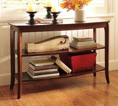 I think I will use this image from Pottery Barn and @Bower Power to decorate the console table this fall!