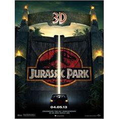 Jurassic Park - 1993- Véritable Affiche De Cinéma Pliée - Format 40x60 Cm - De Steven Spielberg Avec Sam Neill, Jeff Goldblum, Laura Dern, Richard Attenborough, B.D. Wong - Ressortie 3 D - 2013