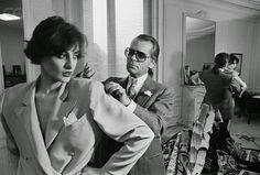 Karl Lagerfeld - Ines de la Fressange 1983