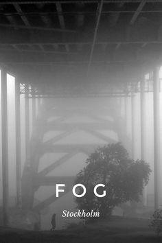 F O G Stockholm Lidingö walk bridge Old city w the Castle Morning mist in Stockholm