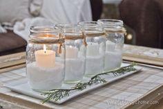 Decoracion DIY Navidad: Velas decorativas frasco cristal