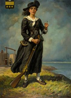 Madeleine de Verchères (1678-1747) thwarted an Iroquois raid on Fort Verchères when she was 14 years old.