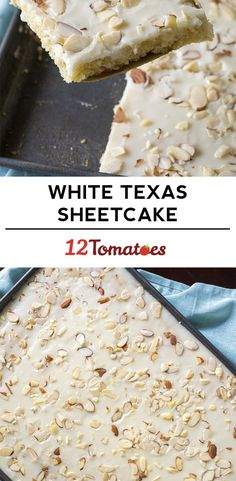 White Texas Almond Sheet Cake